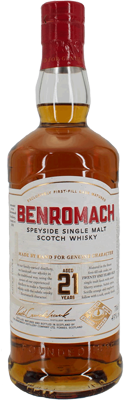 Benromach 21 Years Single Malt Whisky