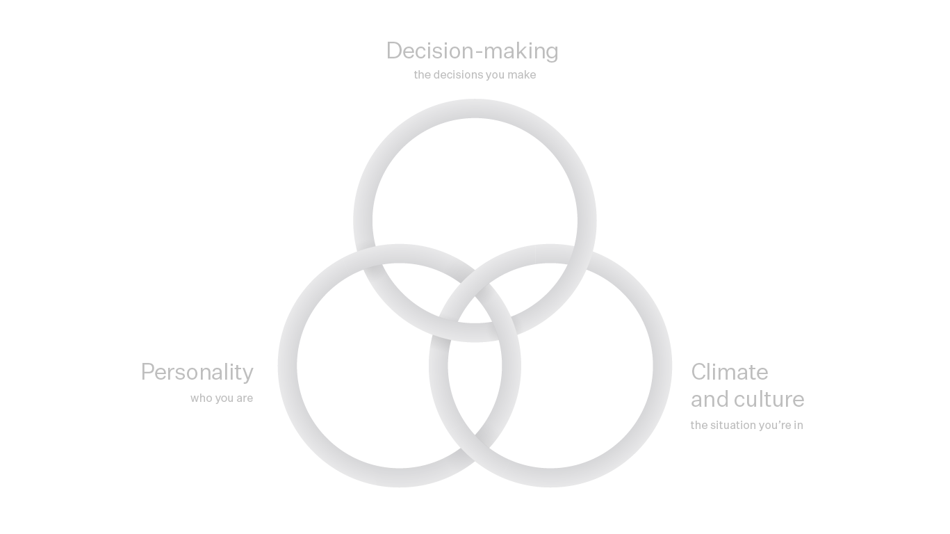 Decision-making, climate and culture and Personality.