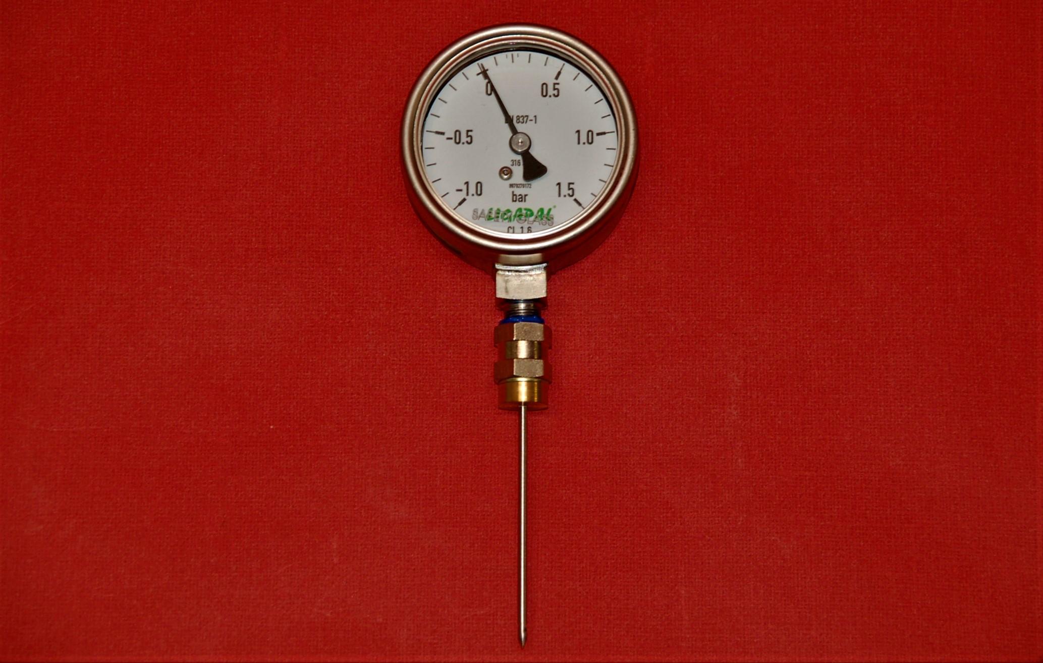 Aphromètre simplifié avec manomètre (-1/ +1,5 Bar)