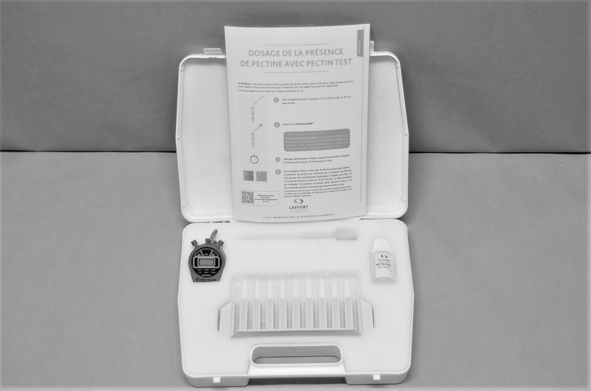 PectinTest, malette complète avec solution pour 50 tests