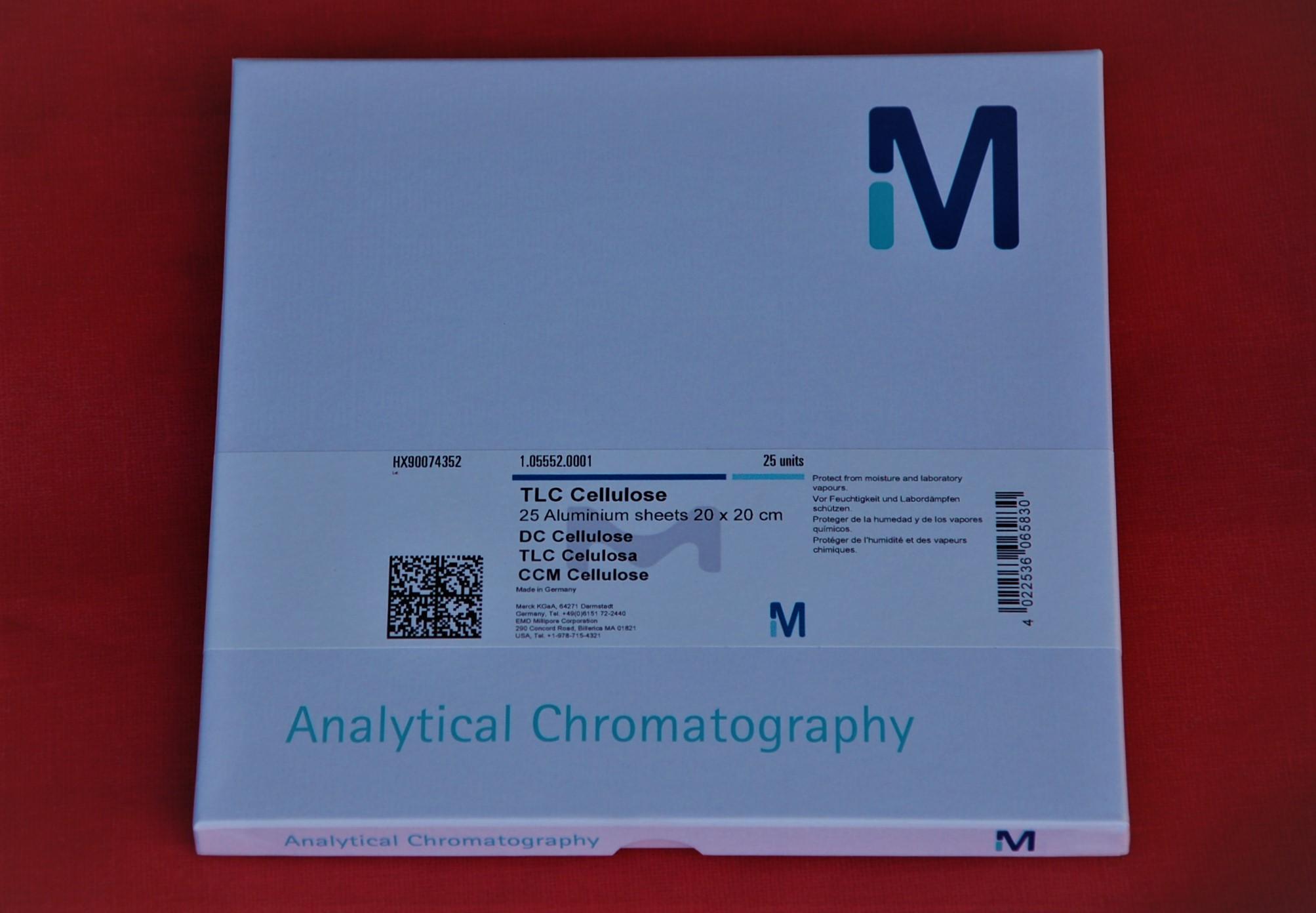 Paquet feuilles de chromatographie rapide