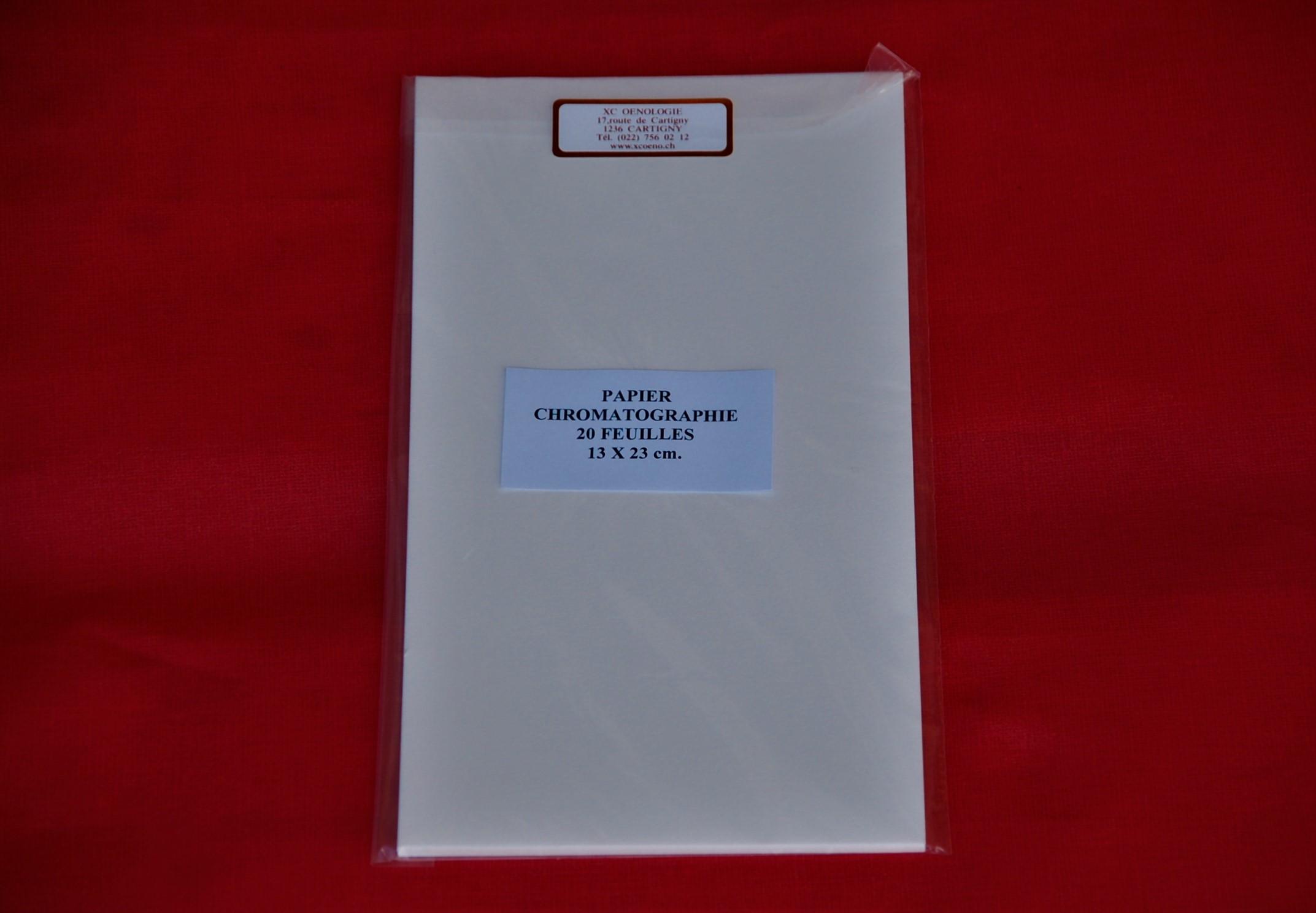 Feuilles pour chromatographie, paquet de 20 feuilles