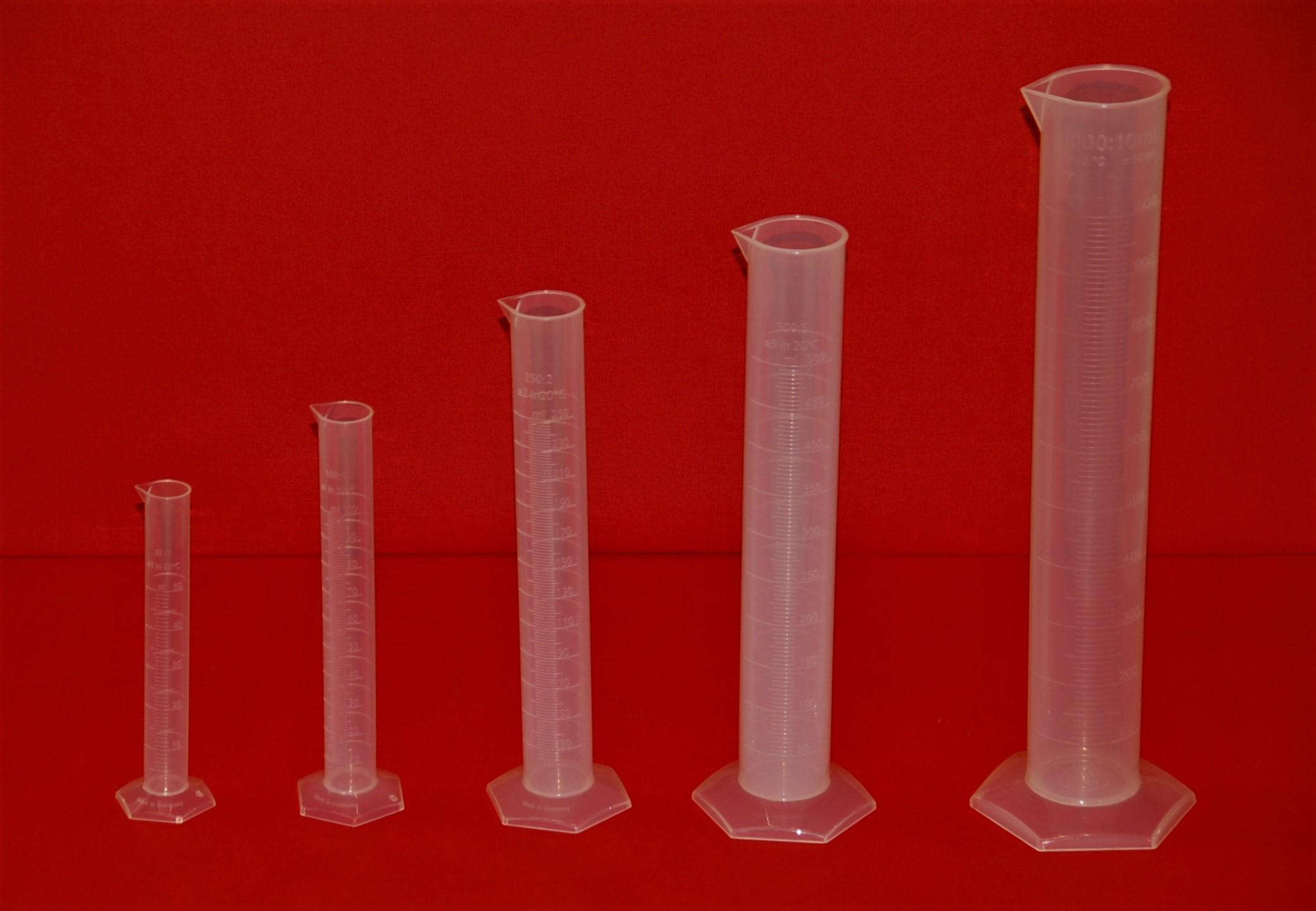 Cylindres gradués en plastique