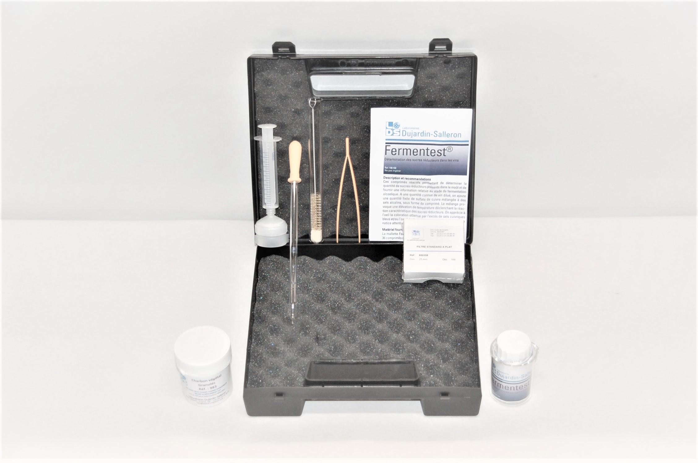 Fermentest kit complet pour l'analyse des sucres
