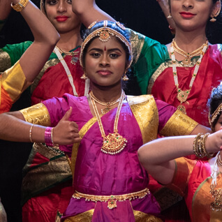 young chitraleka dancer on stage