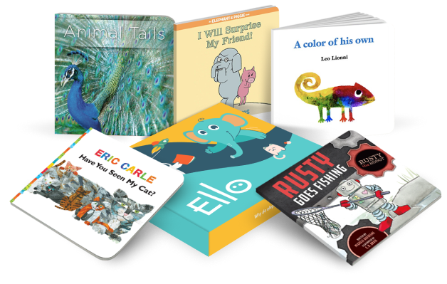 Ello monthly subscription box and five expert selected books