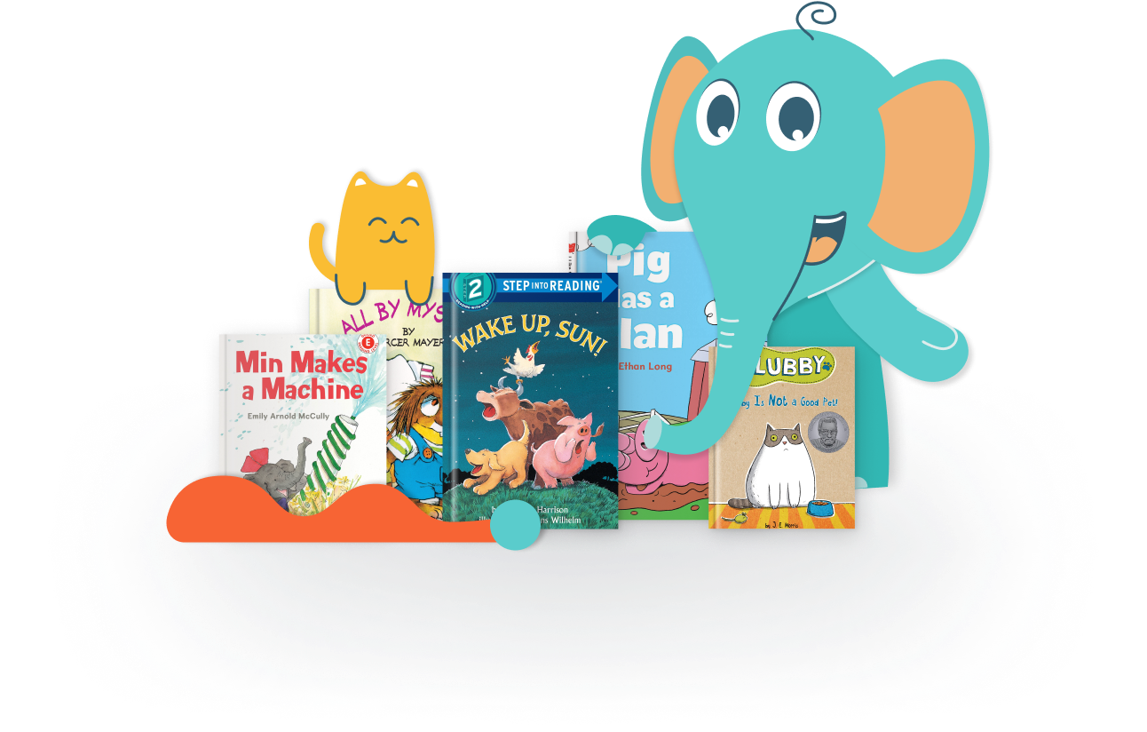 Ello with books that have been expertly selected for each child's interests and reading level