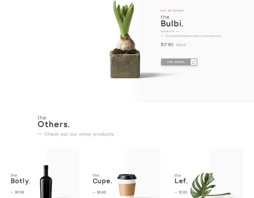 theShop. · Category page layout · Almási Gergő