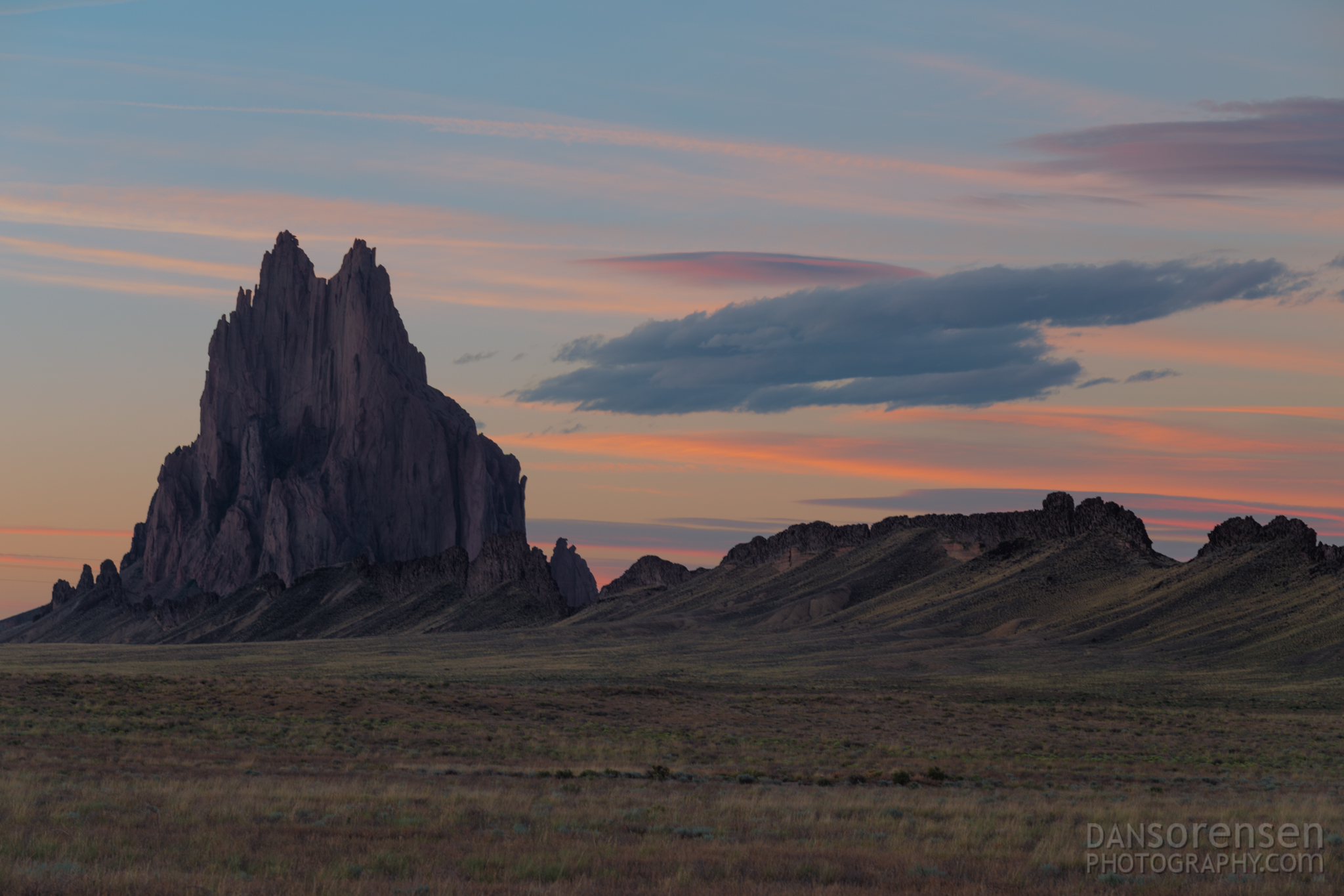 Shiprock New Mexico at Sunset