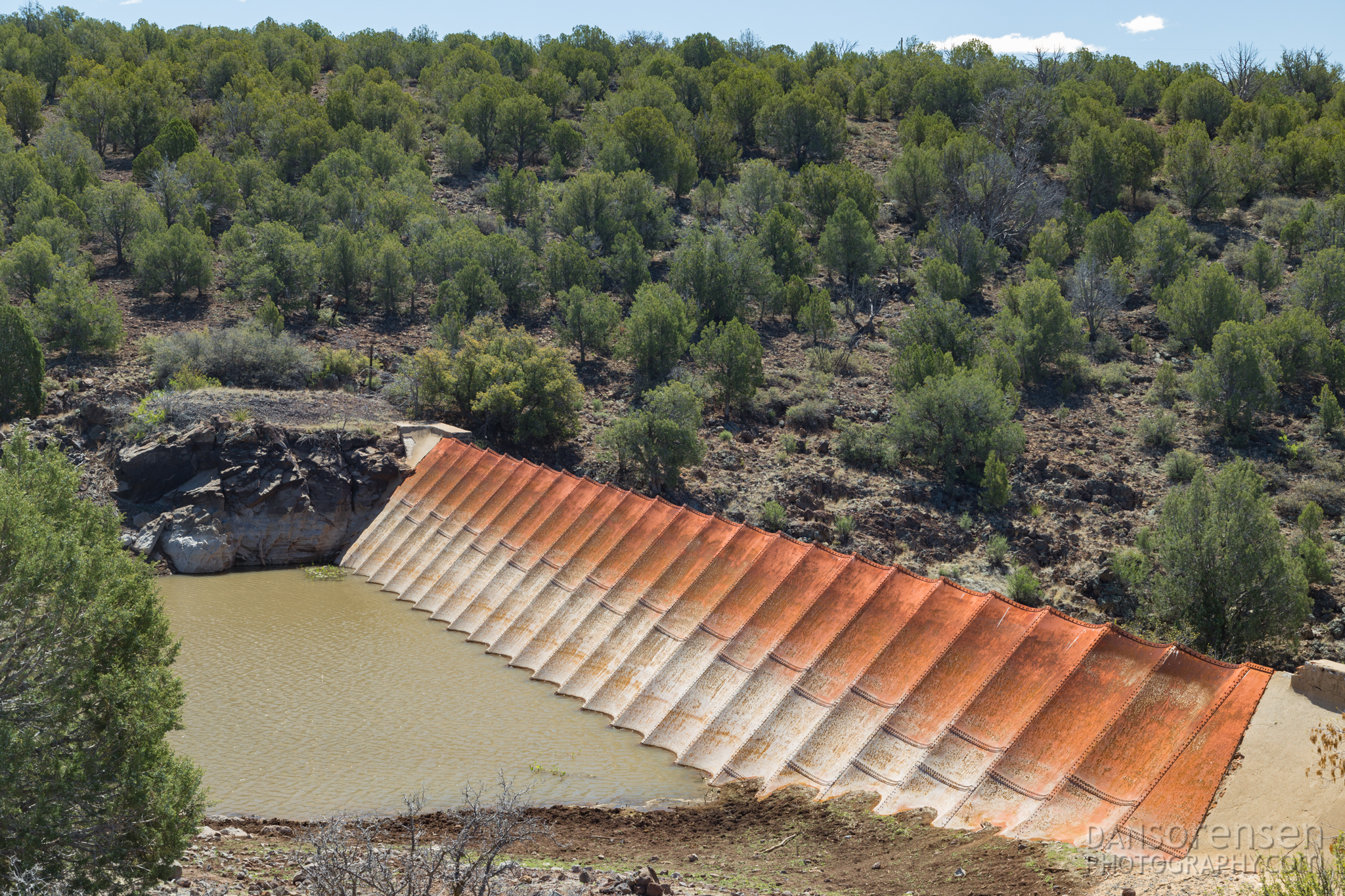 Ash Fork Steel Dam in Arizona