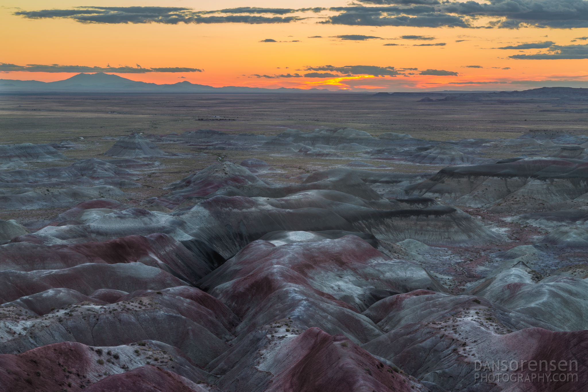 Sunset in the Little Painted Desert