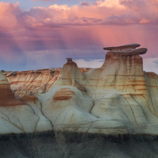 Hoodoos of the Bisti Badlands in New Mexico