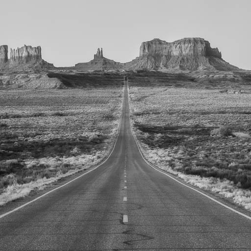 Highway 163 Toward Monument Valley