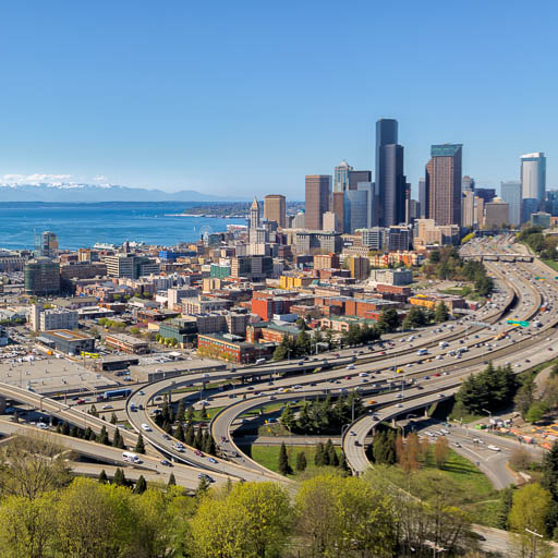 Seattle Skyline from the Pacific Tower's Roof