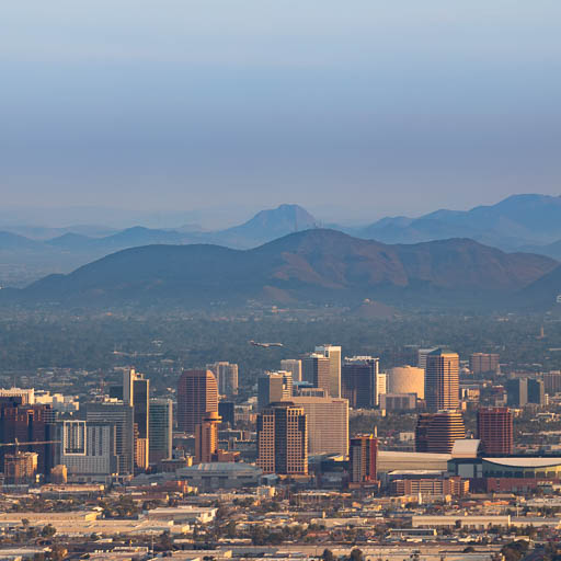 Phoenix Skyline and Shaw Butte