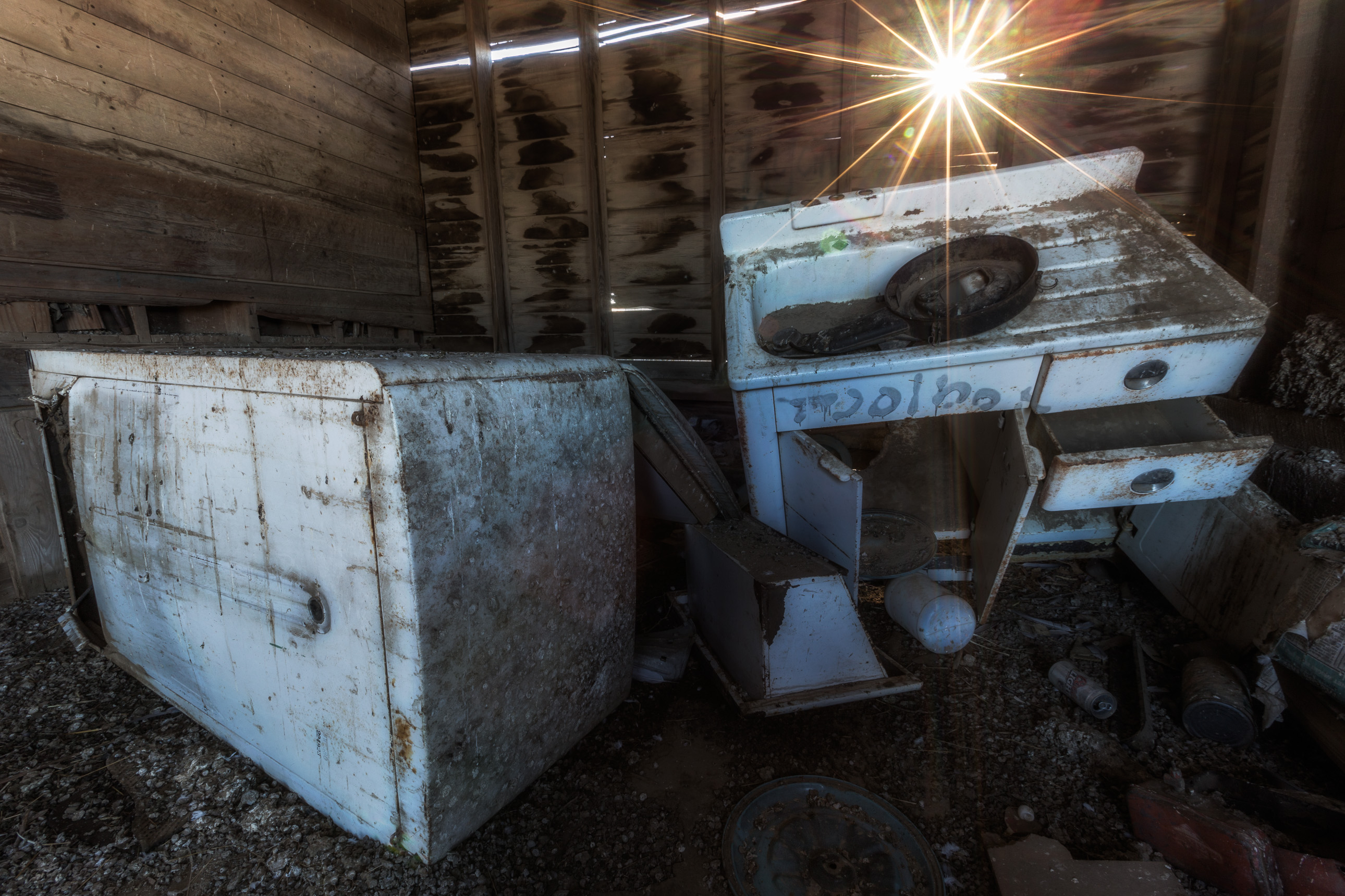 Appliances in an Abandoned Shed