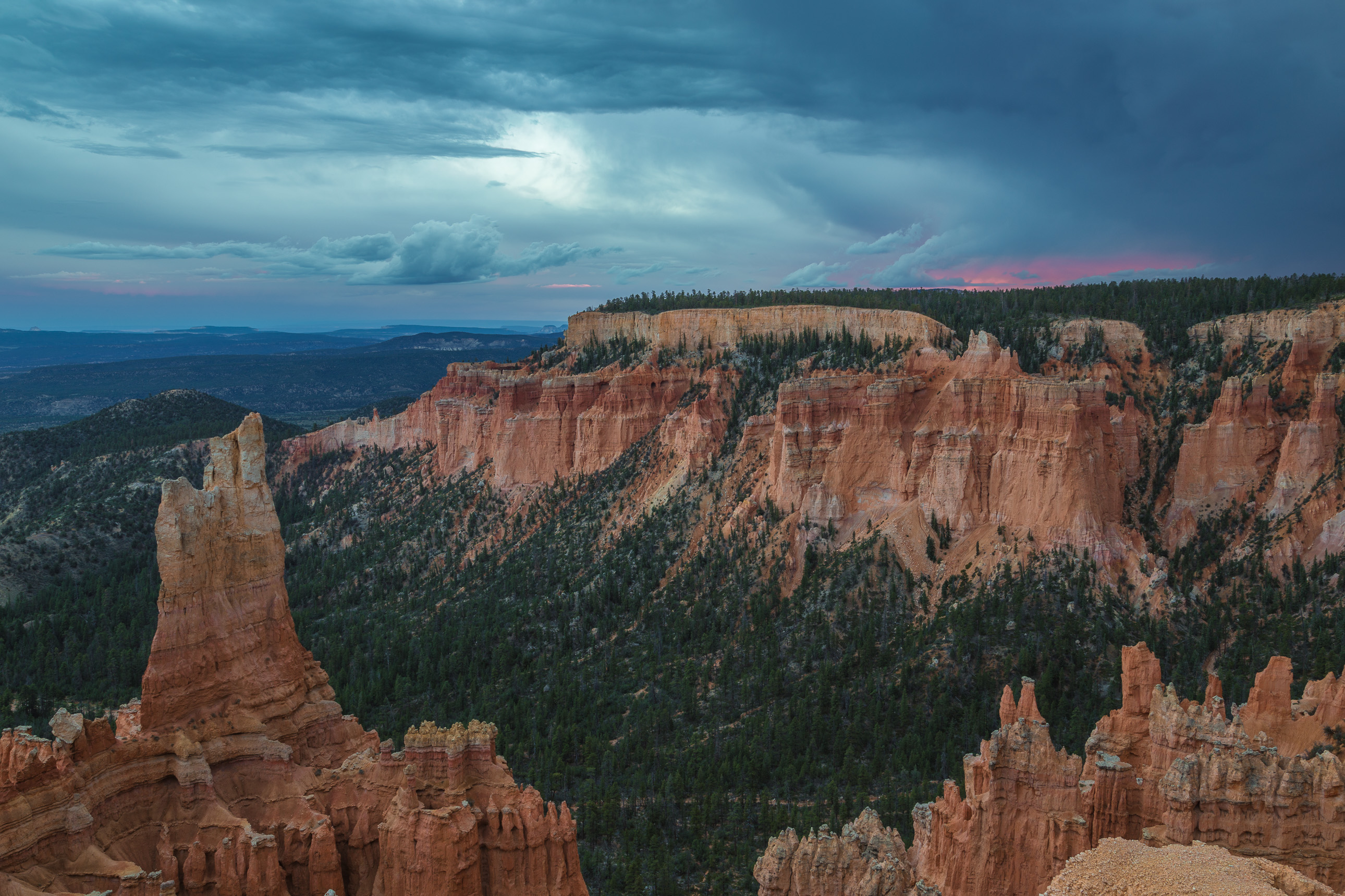 Bryce Canyon's Paria Point at sunset