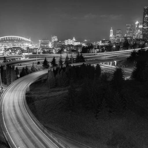 Downtown Seattle from the 12th Street bridge