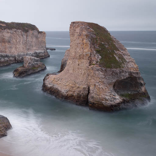 Shark Fin Cove along the Pacific Coast Highway