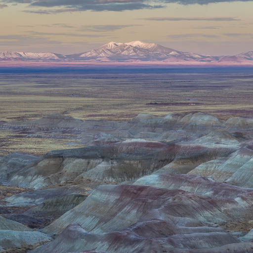 Little Painted Desert and Humphreys Peak