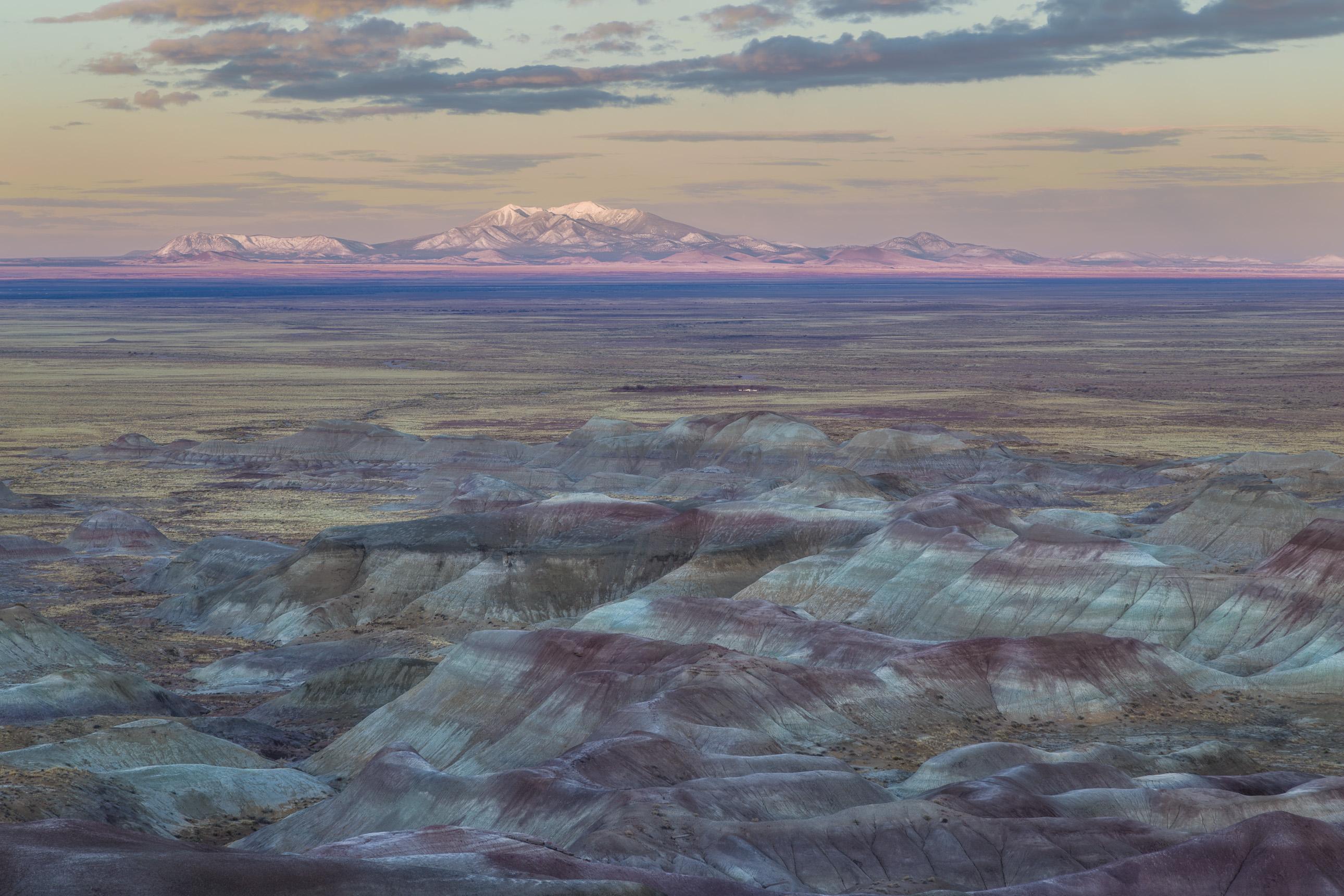 Little Painted Desert and Humphreys Peak