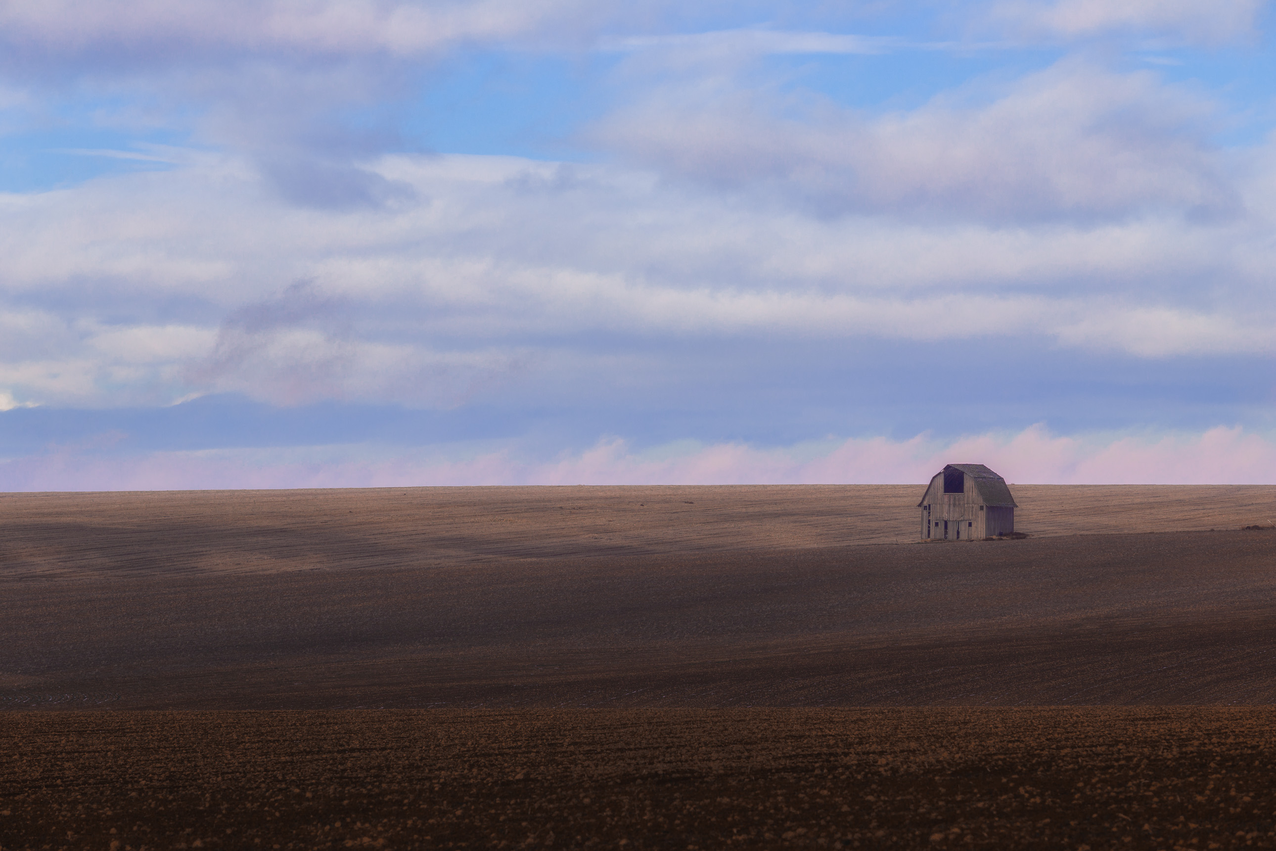Lone barn on a farm in Washington