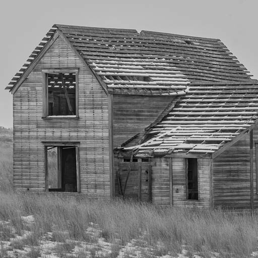 Creepy abandoned house on a farm