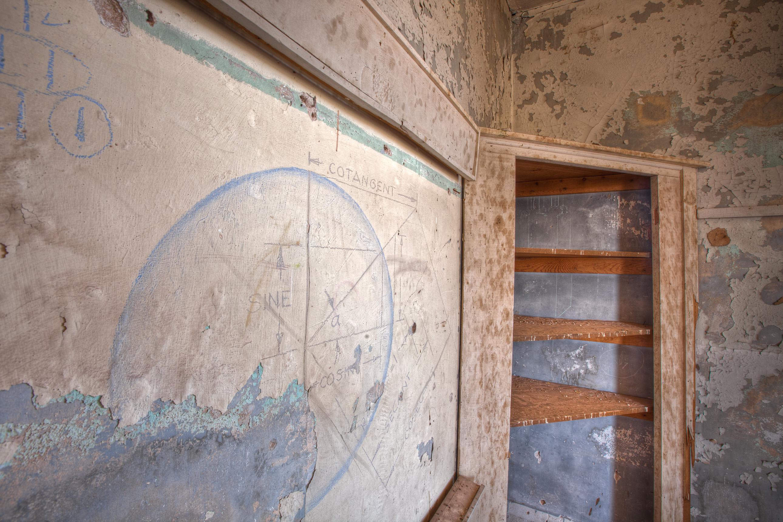 Abandoned math room