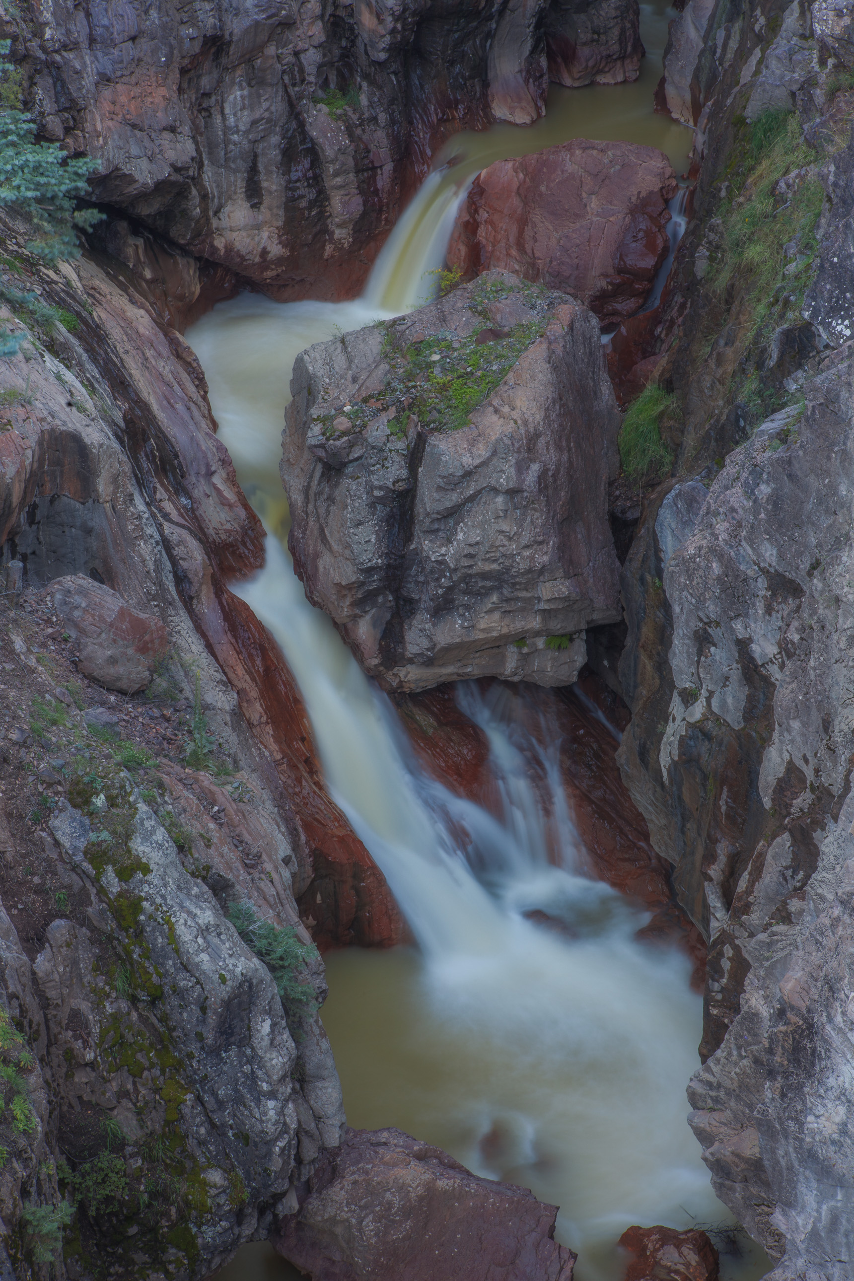 Box Canyon waterfall in Ouray Colorado