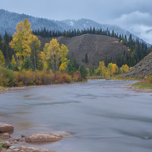 Hoback River in the fall