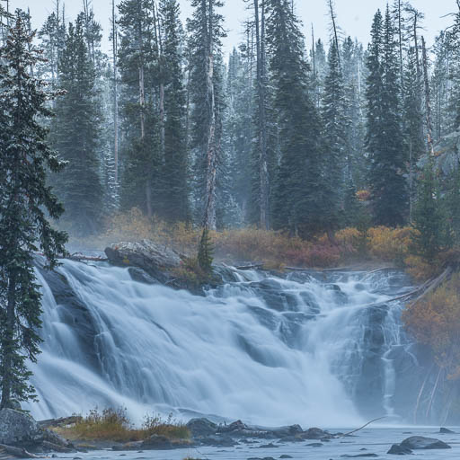 Lewis Falls in Yellowstone in the winter