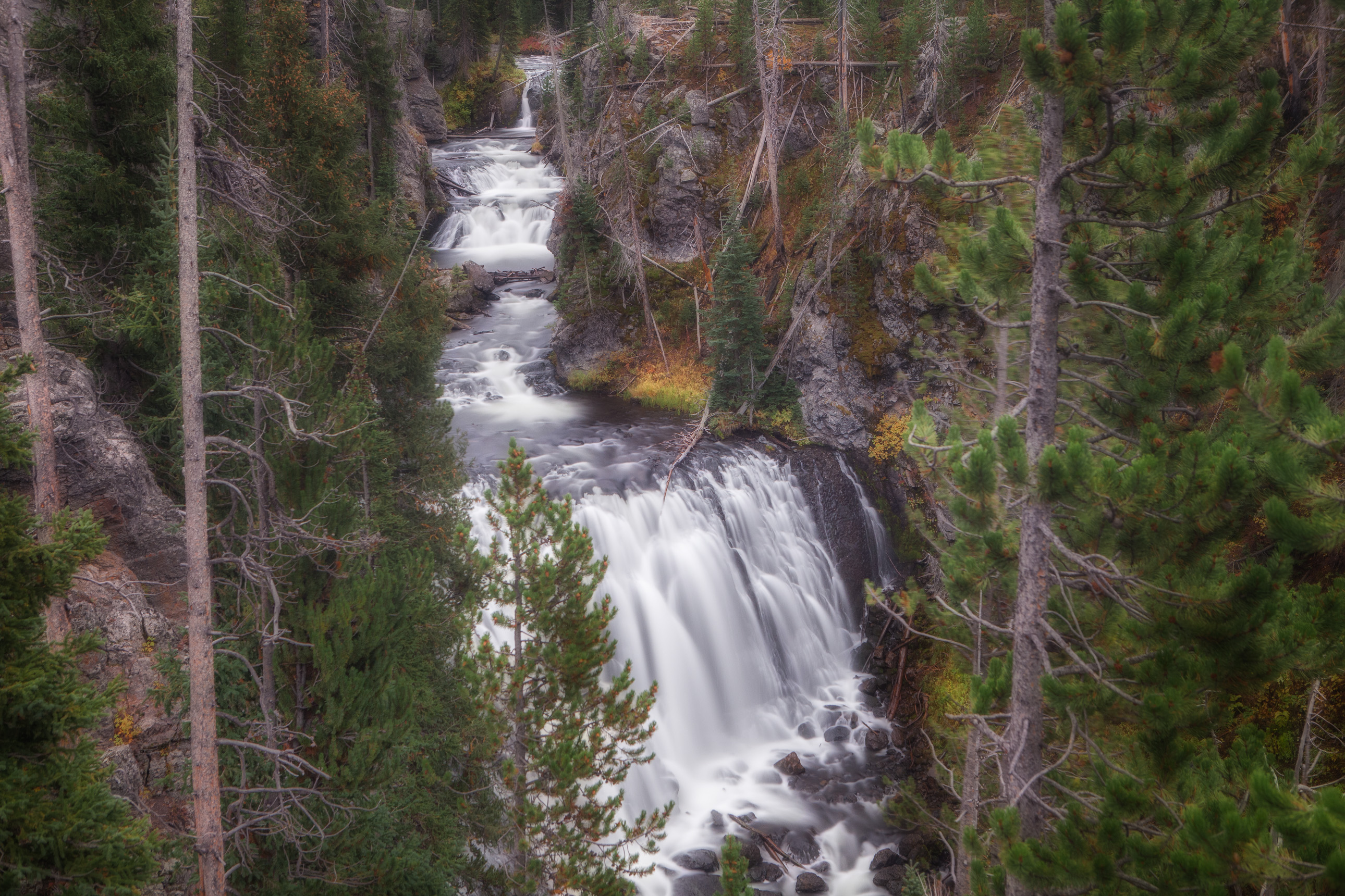 Kepler Cascades in Yellowstone National Park