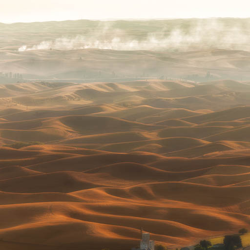 Rolling hills of the Palouse from Steptoe Butte