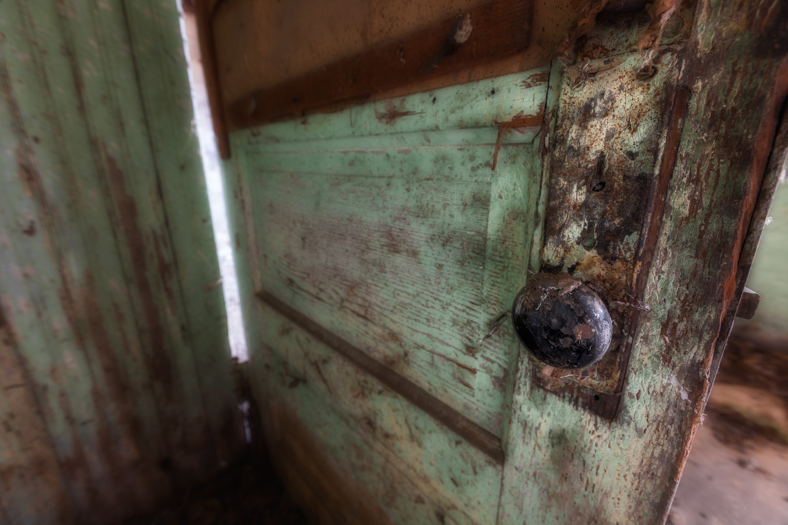 Door knob of an abandoned house