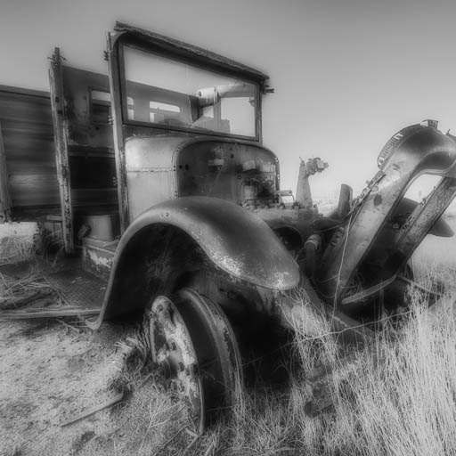 Abandoned work truck in Hollister Idaho