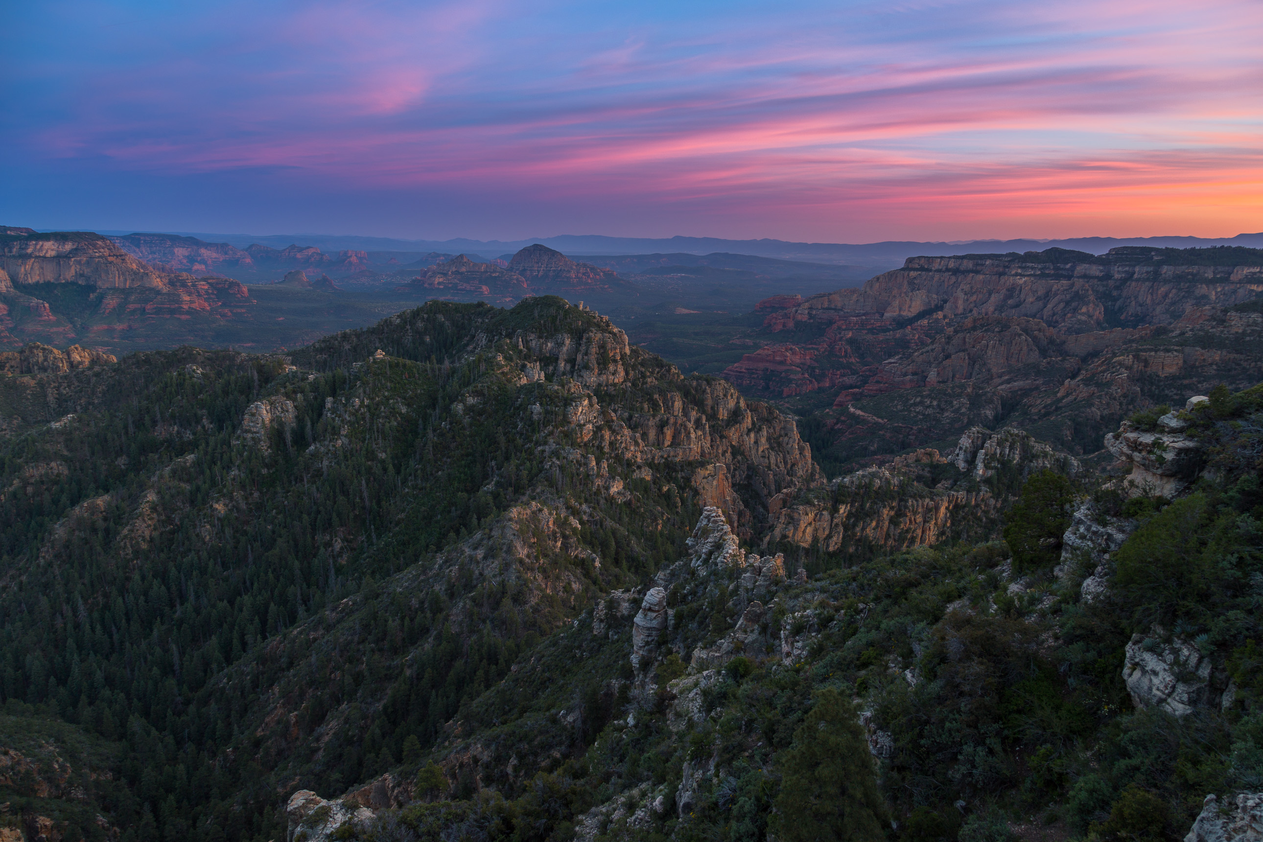 Sunset over Sedona's Secret Mountain Wilderness