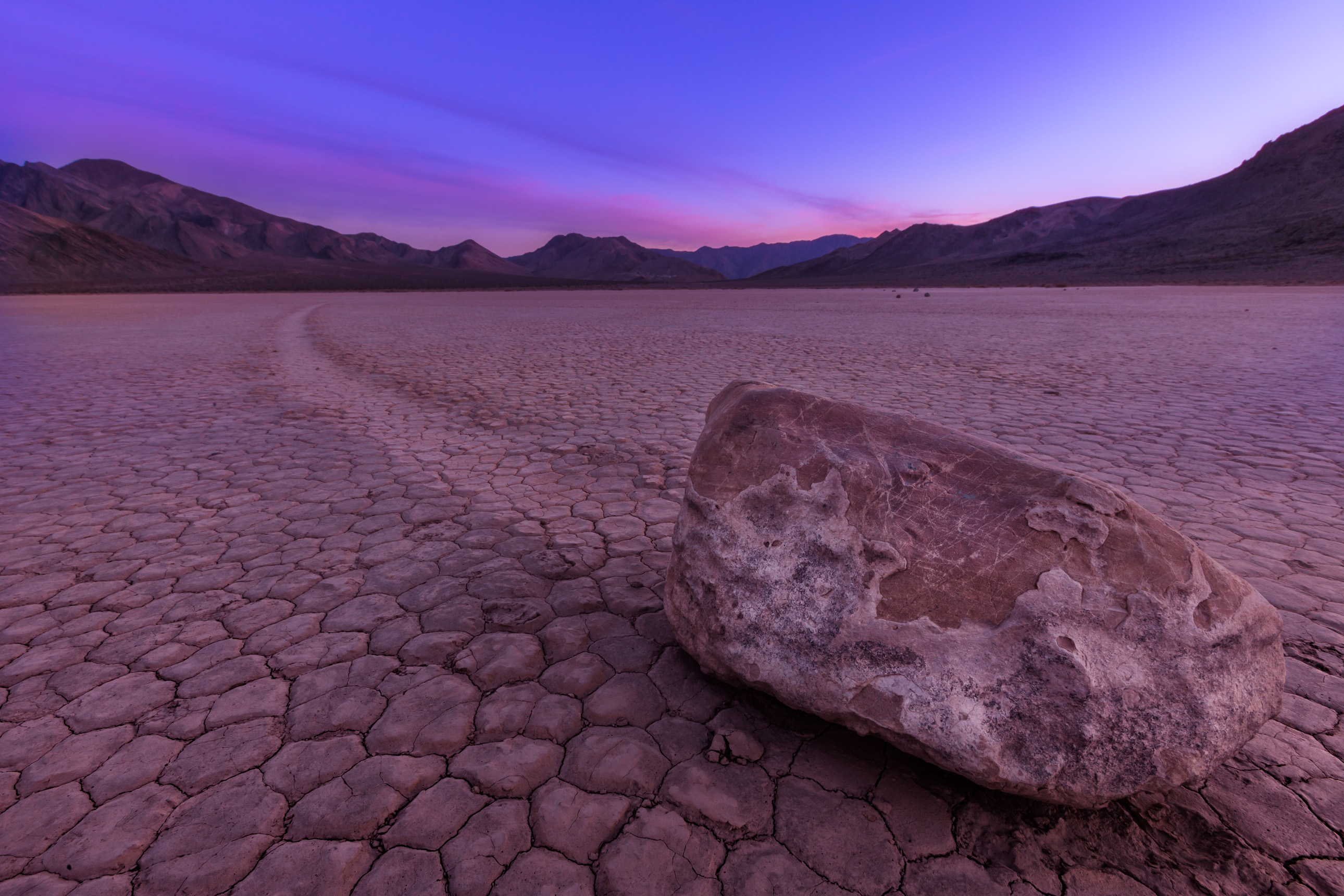Death Valley sailing stones on Racetrack Playa