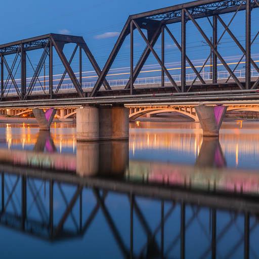 Four bridges over Tempe Town Lake