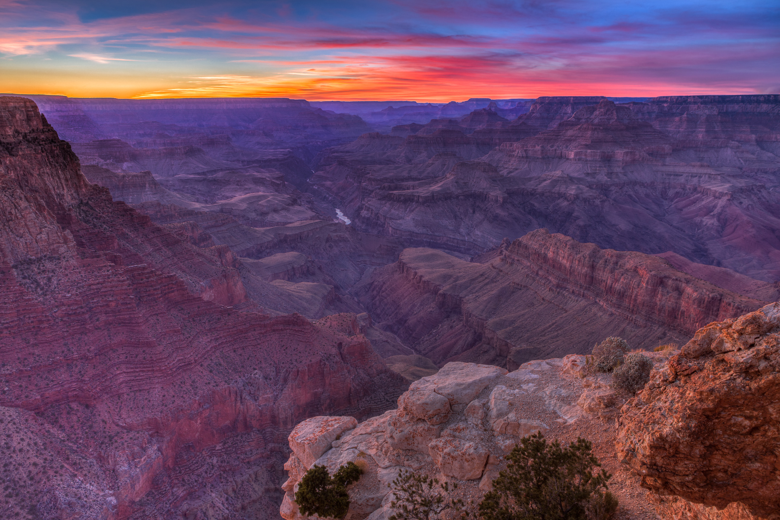 Sunset from Lipan Point at Grand Canyon National Park