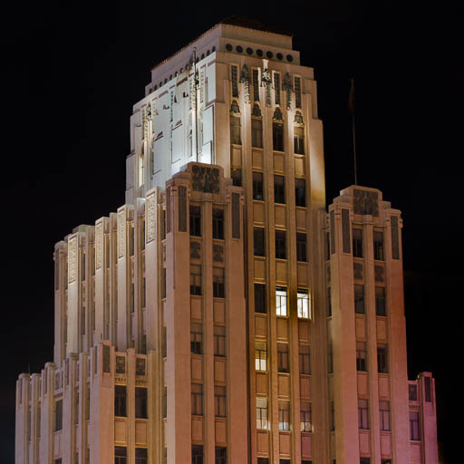 Luhrs Tower Glowing at Night