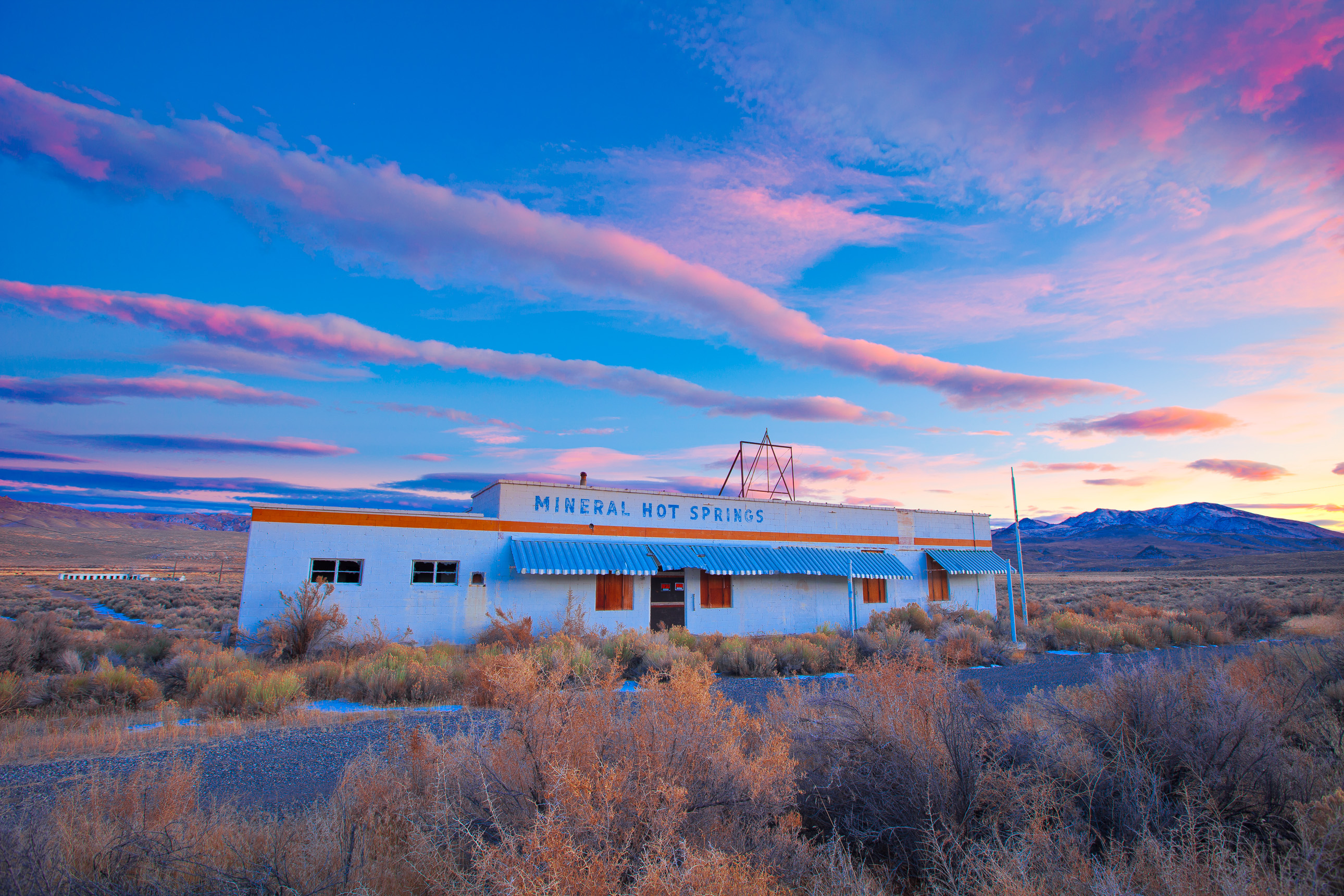 Abandoned Mineral Hot Springs near Jackpot Nevada