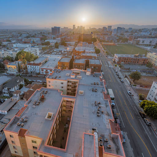 Sunset from central Los Angeles