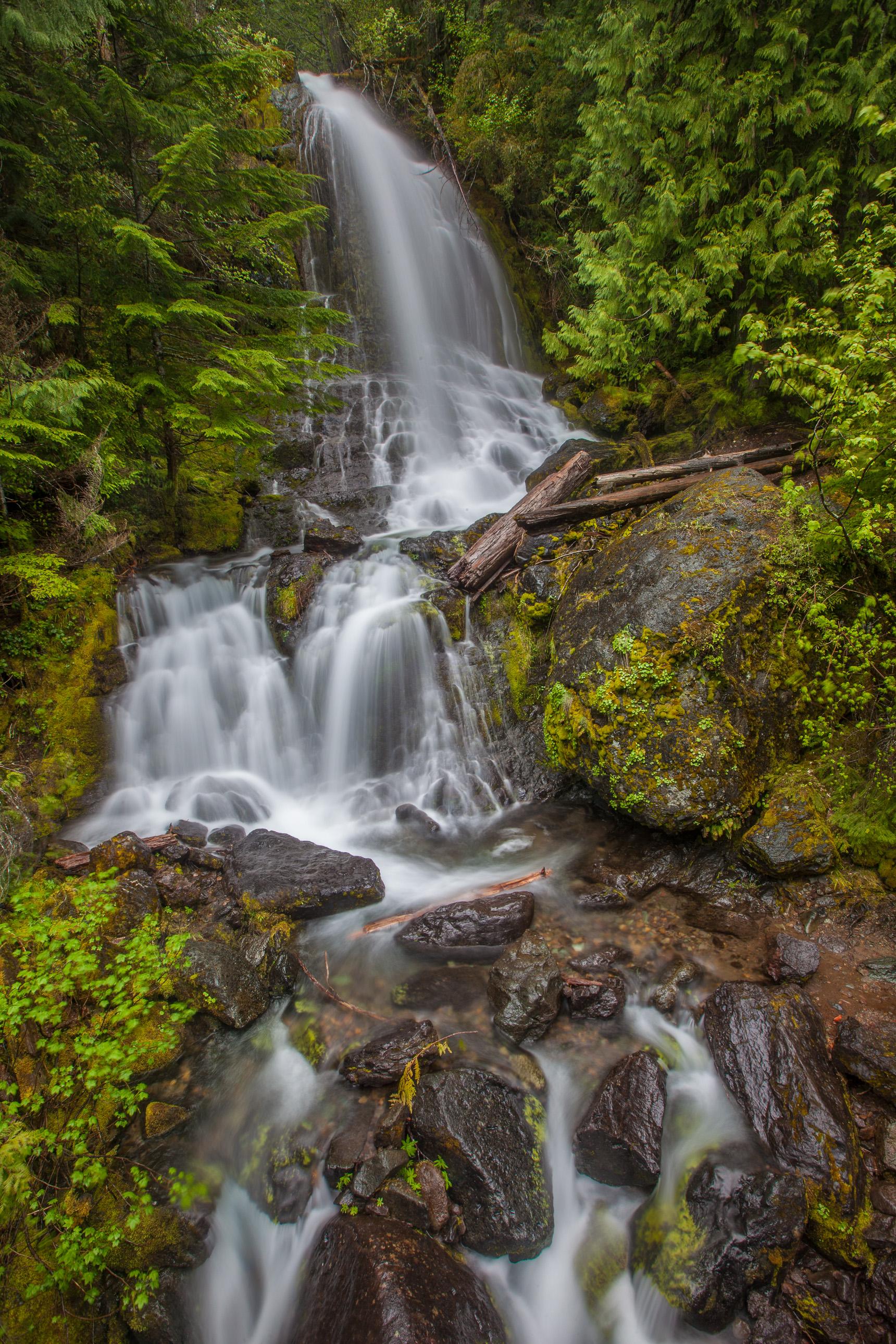Falls Creek waterfall on Mount Rainier