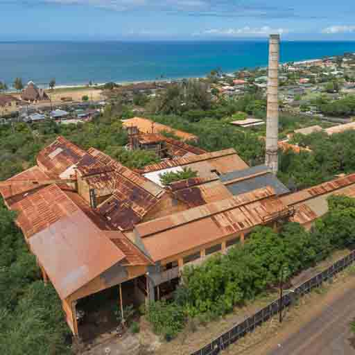 Abandoned Kekaha Sugar Mill in Kauai, Hawaii