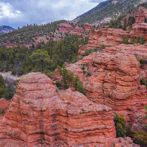 Photo of glowing orange cliffs inside Jackson Canyon in eastern Arizona