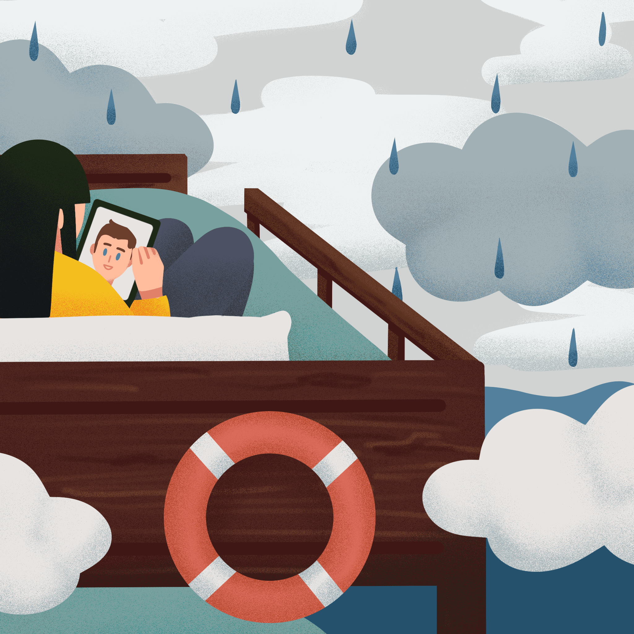 My entry for Anna Goodson illustration agency's Creative Pixel Project, depicting my experience during COVID lockdown.