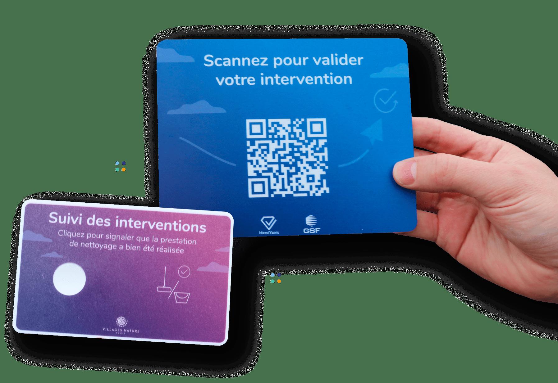 QR codes permettant la validation de l'intervention par l'agent