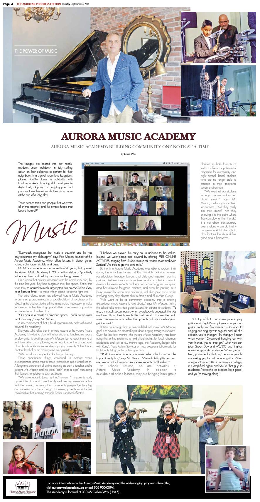 music lessons near me in aurora ontario canada