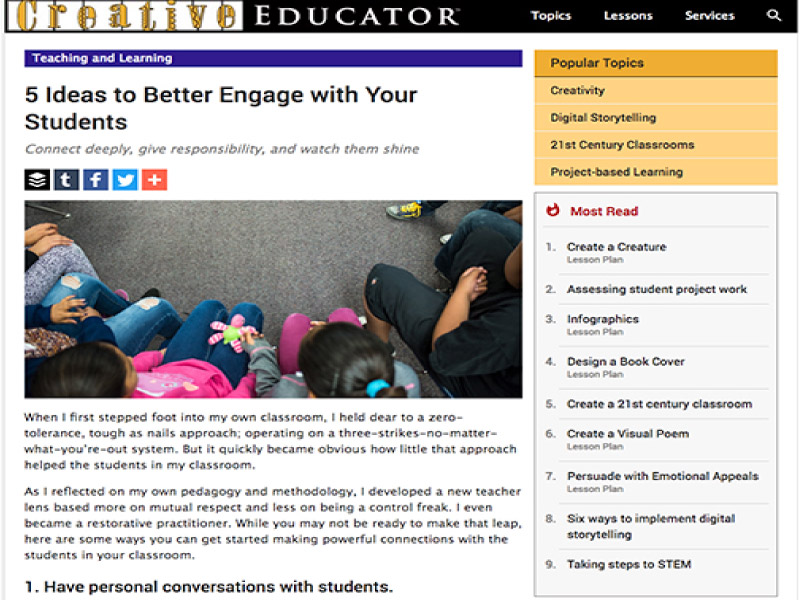 5 Ideas to Better Engage with Your Students