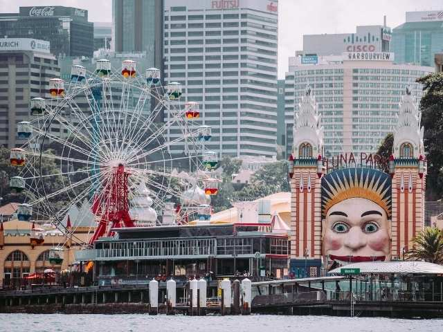 Luna Park in Sydney From the Harbour